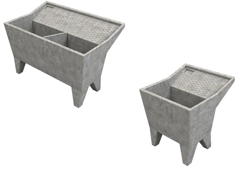 Vasche da lavanderia in cemento e graniglia levigata cps manufatti in cemento - Vasca da bagno in cemento ...