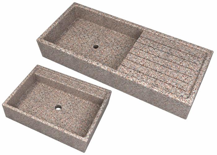 Lavandini a tutta vasca e con posapiatti da esterno in cemento cps manufatti in cemento - Lavandini da esterno ...