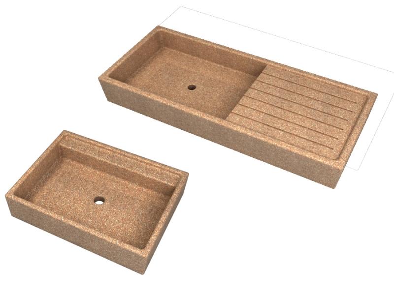 Lavandini a tutta vasca e con posapiatti da esterno in cemento cps manufatti in cemento - Lavandino esterno pietra ...